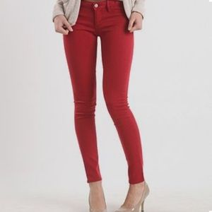 Bullhead Black Red Skinny Jeans